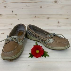 "Sperry Top-Sider ""Angelfish"" Leopard Boat Shoes"